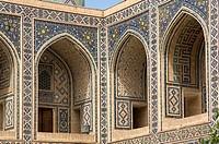 Ulugh Beg Medressa, Mosaics, Registan, Samarkand, Uzbekistan, UNESCO World Heritage Site