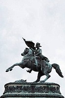 Low angle view of an equestrian statue, Heldenplatz, Vienna, Austria