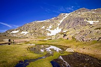 Lagunillas in the Natural Park of Peñalara Madrid Spain