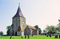 St Mary's Church in the village of St  Mary in the Marsh, Romney Marsh, Kent, England, UK