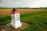 Sacred Way memorial between Verdun and Bar-le-Duc, France
