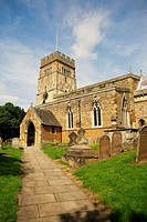 Earls Barton Church with circa 10th Century late Saxon Tower Northamptonshire