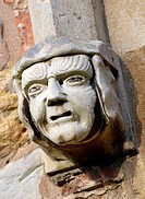 Carved Head Hood Mould Stop on Church Window Arrow Church, Warwickshire