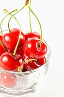 Cherry Fruit on Glass