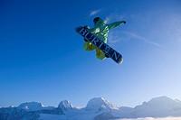 Snowboarder auf dem Gurnigel BE