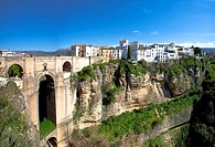 Andalusia, Spain, Malaga, Ronda, Middle Ages, cliff, connection, protection, bridge, curve, traveling, tourism, vacation, holidays