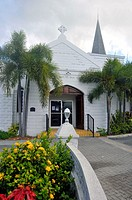 White Church in Grand Cayman Islands Caribbean Georgetown