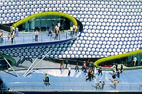 Selfridges new flagship store, designed by Future Systems, in The Bullring shopping mall, Birmingham, England