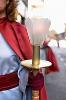 Nazarene in an Easter procession Elda, Alicante, Spain