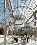 The interior of the Palacio de Cristal, Crystal Palace, in The Retiro Park in the centre of Madrid, Spain