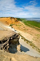 Morsum Cliff, Morsum, Sylt, Germany, elevated view