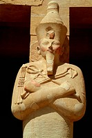 Statue at the Hatschepsut Temple, Luxor, Egypt, close_up