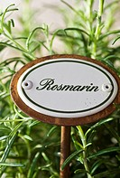 Sign with rosemary