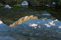 Spiegelung des Schˆnbichler Horn, Groer Mˆserle und Turnerkamp im Hochgebirgs_Naturpark Zillertaler Alpen