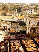 Tannery, Fez, Morocco, North Africa, Africa