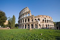 Colosseum amphitheatre, UNESCO World Heritage Site, Rome, Lazio, Italy, Europe