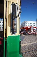 Tourist tram in Market Square, Helsinki, Finland, Scandinavia, Europe