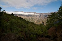 Volcanic crater of Taburiente, La Palma, Canary Islands, Spain, Europe