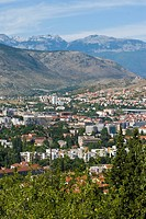 View over the town of Mostar, Bosnia_Herzegovina, Europe