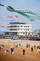 Catch the wind kite festival on Morecambe,Lancashire, seafront