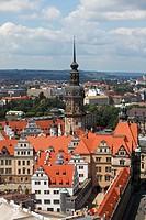 Castle, Hausmannsturm, Dresden, Saxony, Germany