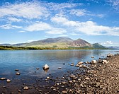 Skiddaw and Bassenthwaite Lake The Lake District England UK