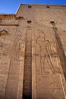 Egypt, Edfu, Temple of Orus the Hawk God, Protector of Osiris
