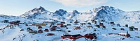 Tasiilaq, Greenland in winter