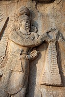 Relief of Shapur II 370, Taq_e Bostan, province Kermanshah, Iran