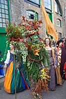 England, London, Southwark, Autumn Harvest Festival Parade, The Berryman