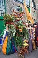 England, London, Southwark, Autumn Harvest Festival Parade, The Berryman