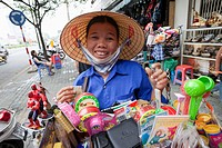Vietnam, Ho Chi Minh City, Street Vendor