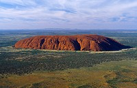 Northern territory _ Ayers Rock _ Uluru by air