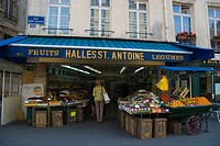 Greengrocer along Rue Saint Antoine Le Marais district Paris France Europe
