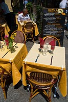 Restaurant terrace Latin Quarter Paris France Europe