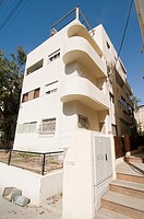 Israel, Tel Aviv, Renovated Bauhaus building at 3 Nachmani Street UNESCO has declared Tel Aviv an international heritage site because of the abundance...
