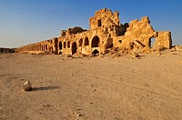 byzantine ruins at the archeological site of Resafa, Sergiopolis, near the Euphrates, Syria, Middle East, West Asia