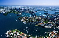 New South Wales _ Sydney Harbour by air _ Neutral Bay in foreground