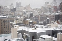 Snow on roof tops