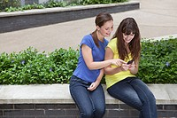 Friends using smartphone
