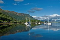 Yachts & boats Loch Leven at Ballachulish Highland