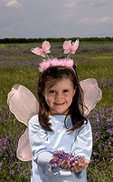 Portrait of Little Girl in a Fairy Costume
