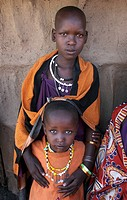 moita, person, girls, masai, tanzania, people