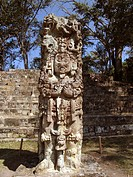 plaza, person, main, stelae, honduras, people