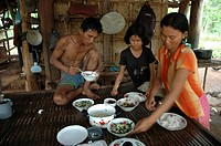 meal, people, eating, cambodia, person, family