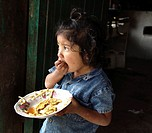 meal, girl, eating, honduras, person, people
