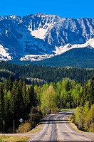 Views along Colorado Highway 145, San Juan Mountains near Telluride, Colorado USA