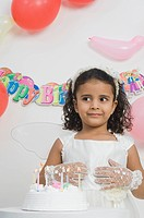 Girl celebrating birthday