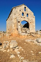 ruin of the byzantine church at the archeological site of Sitt Ar-Rum, Dead Cities, Syria, Middle East, West Asia