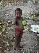 mango, person, eating, boy, zambia, people